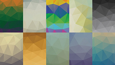 AWESOME LOW-POLY PSD BACKGROUNDSイメージ