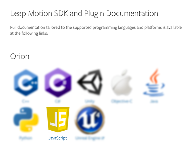 Leap Motion SDK and Plugin Documentation